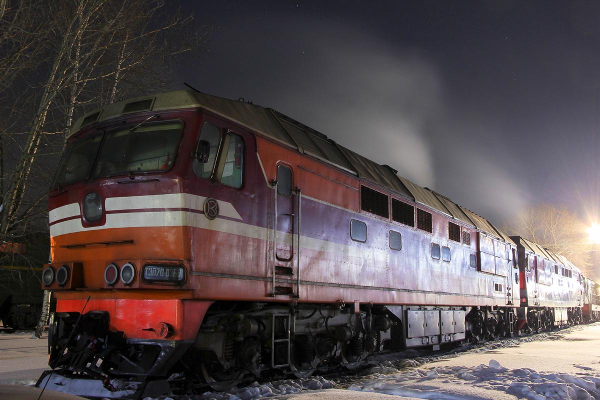 Тепловоз ТЭП70-0359 на ПТОЛ Волоколамск