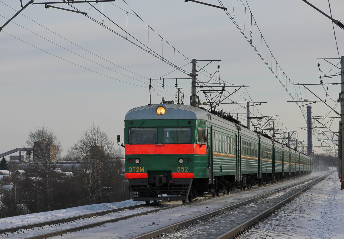 Электропоезд ЭТ2М-052 на перегоне Клин - Решетниково