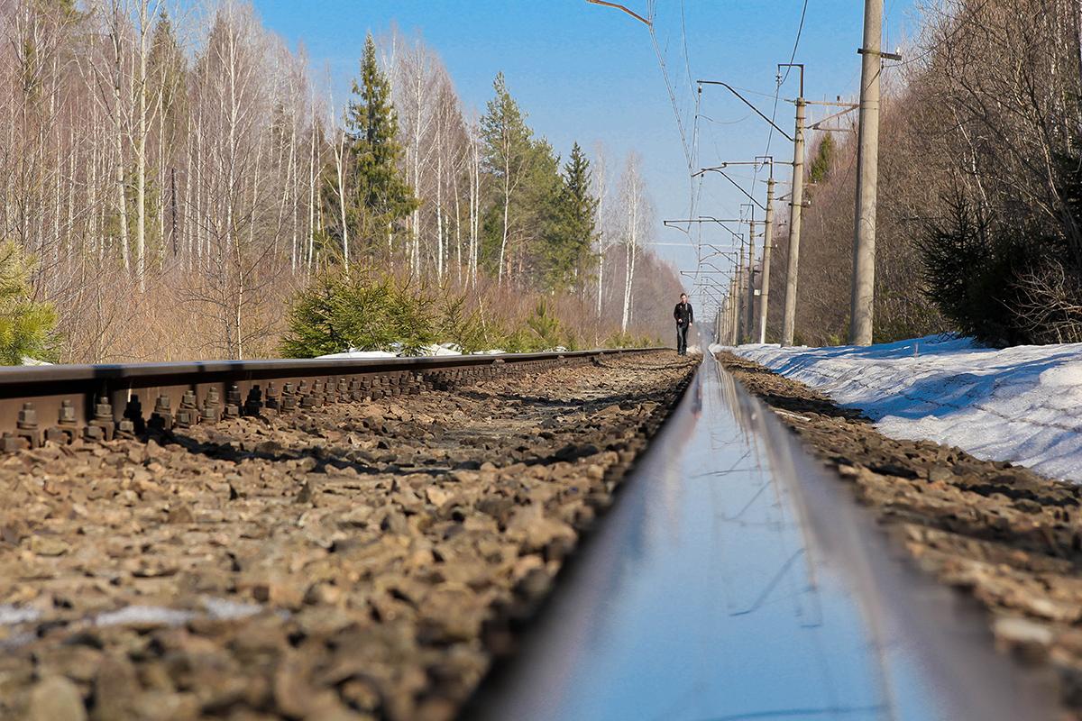 Вид на перегон Конаковский Мох - Конаково ГРЭС