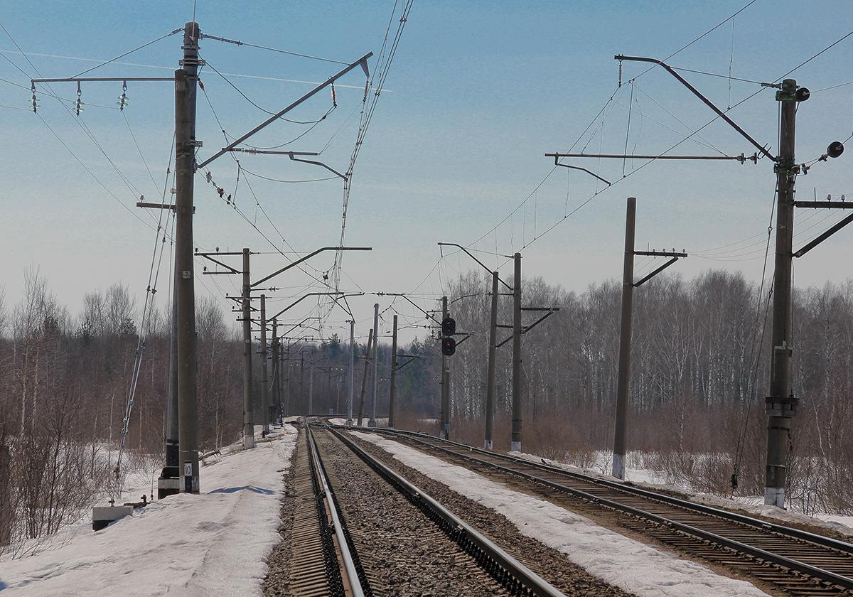 Станция Конаковский Мох, вид в сторону Решетниково