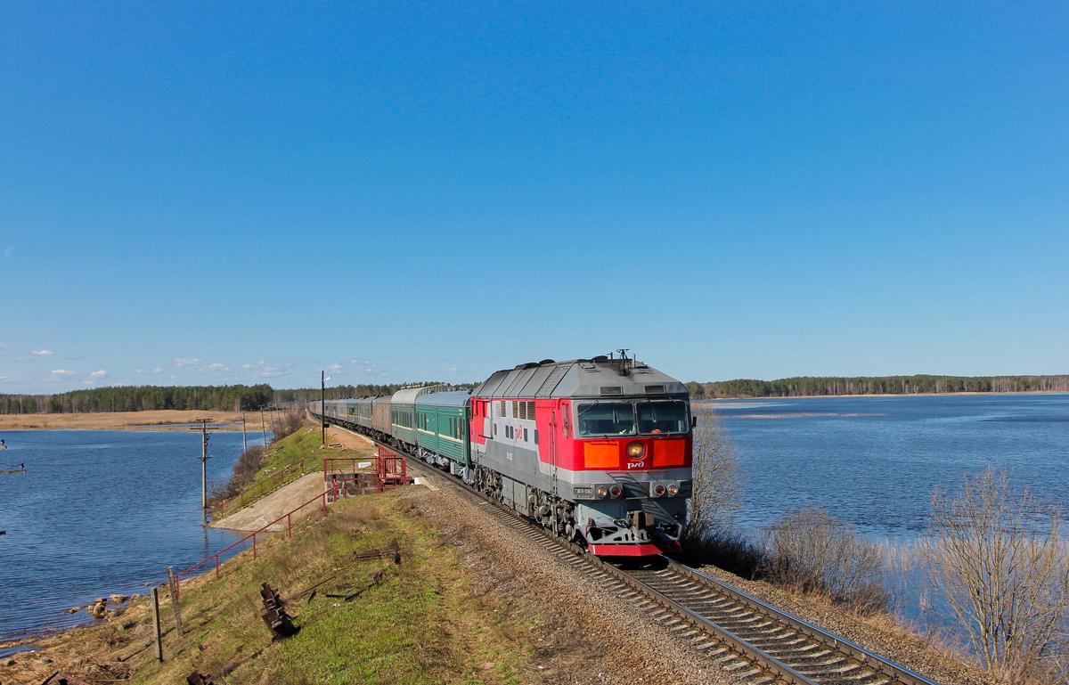 Тепловоз ТЭП70-0362 с почтово-багажным поездом №933 Петербург - Екатеринбург, перегон Платищенка - Кафтино