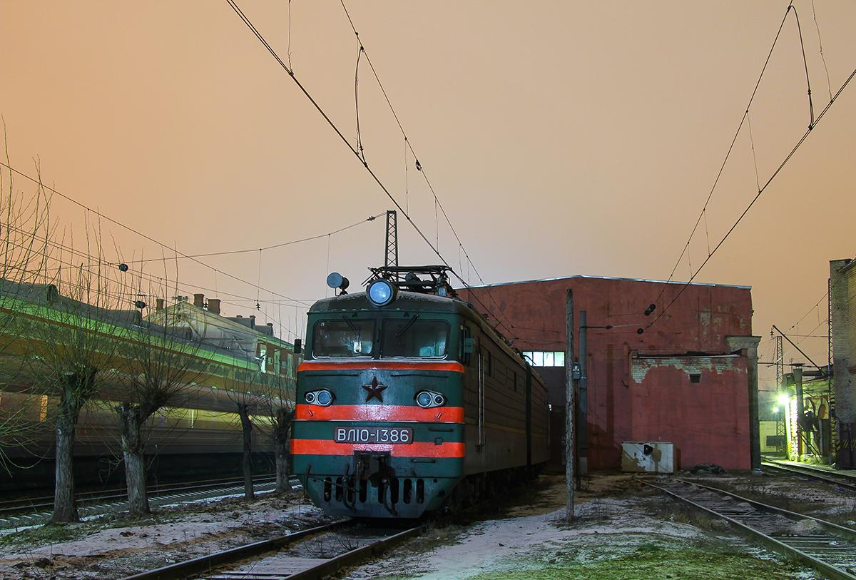 Электровоз ВЛ10-1386, станция Тверь