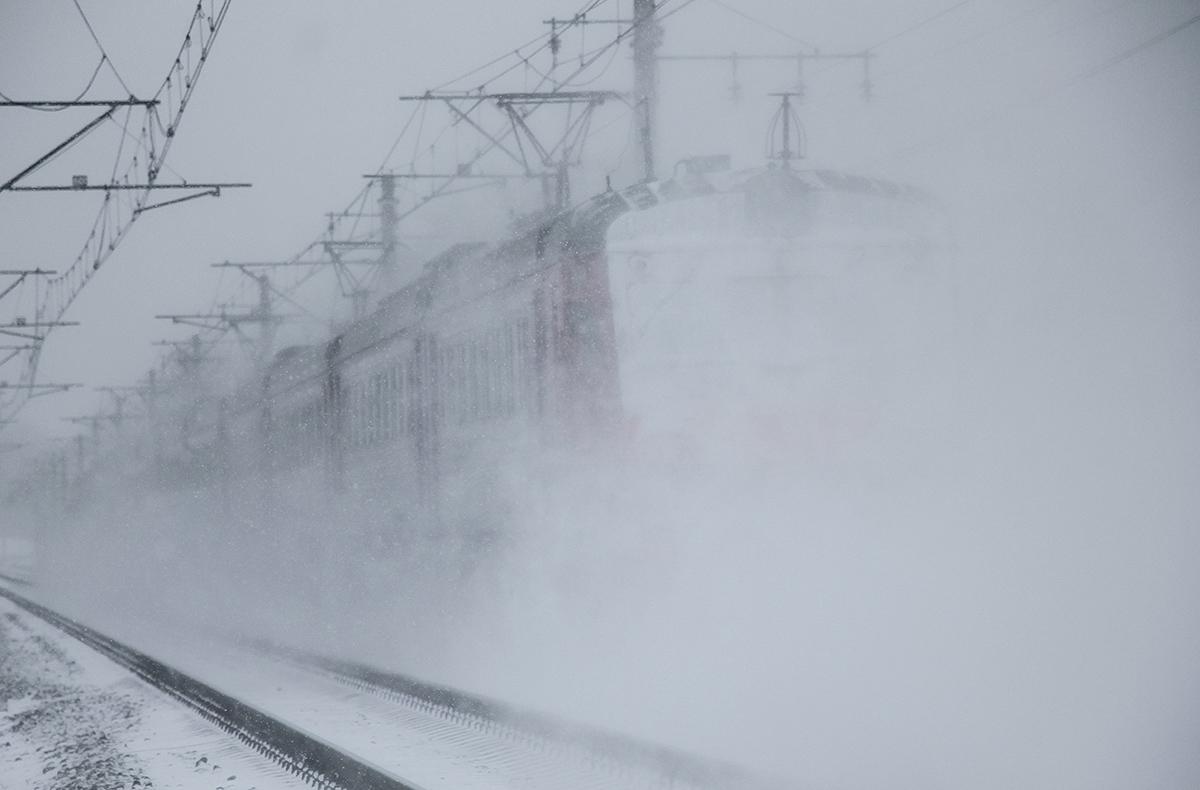 Электричка на перегоне Решетниково - Клин