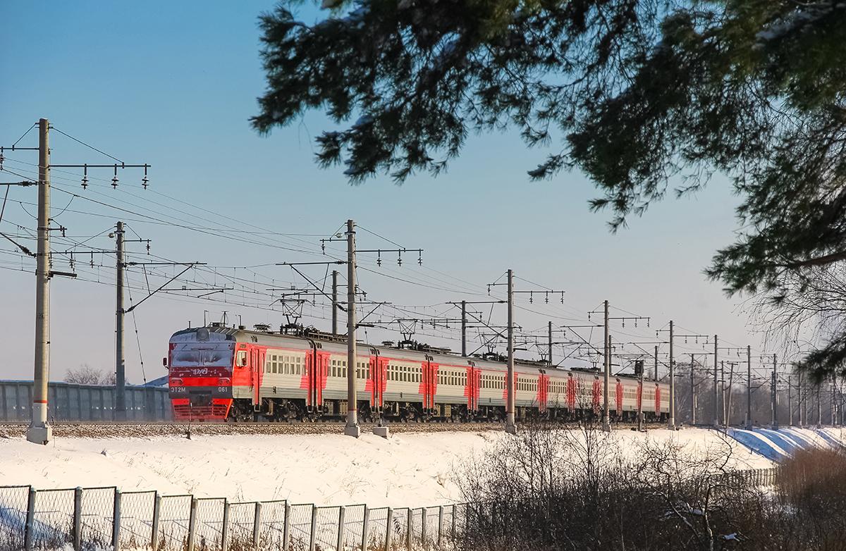 Электропоезд ЭТ2М-061, перегон Клин - Решетниково
