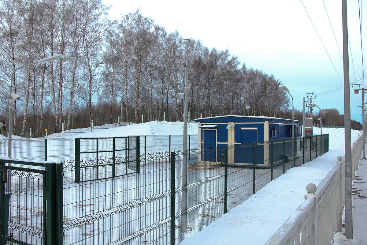 Пост охраны у платформы Кузьминка