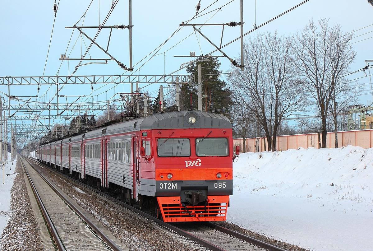 Электропоезд ЭТ2М-095 на перегоне Редкино - Тверь