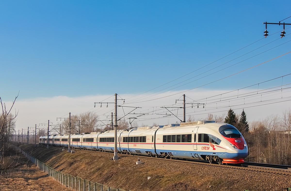 "Электропоезд ЭВС2-04 ""Сапсан"" на перегоне Решетниково - Клин"