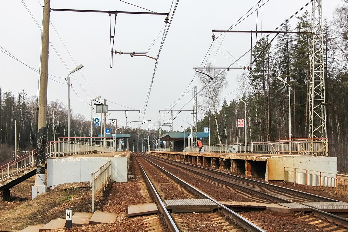 Платформа Циолковская, перегон Чкаловская - Монино