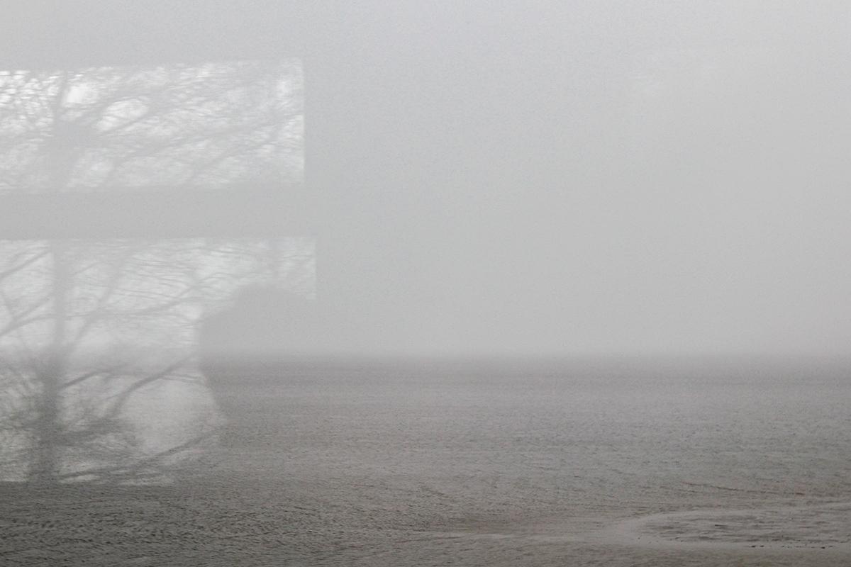 Московское море (Иваньковское водохранилище) в метель