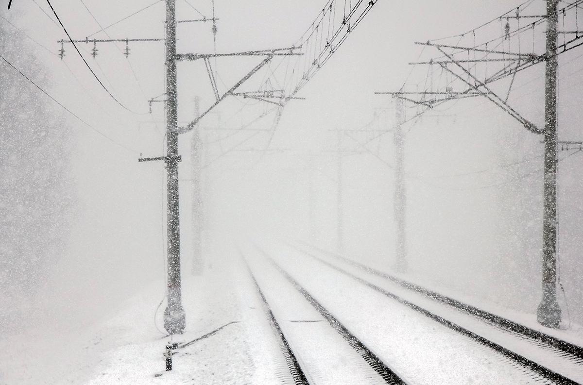 Вид от платформы Межево в сторону станции Тверь