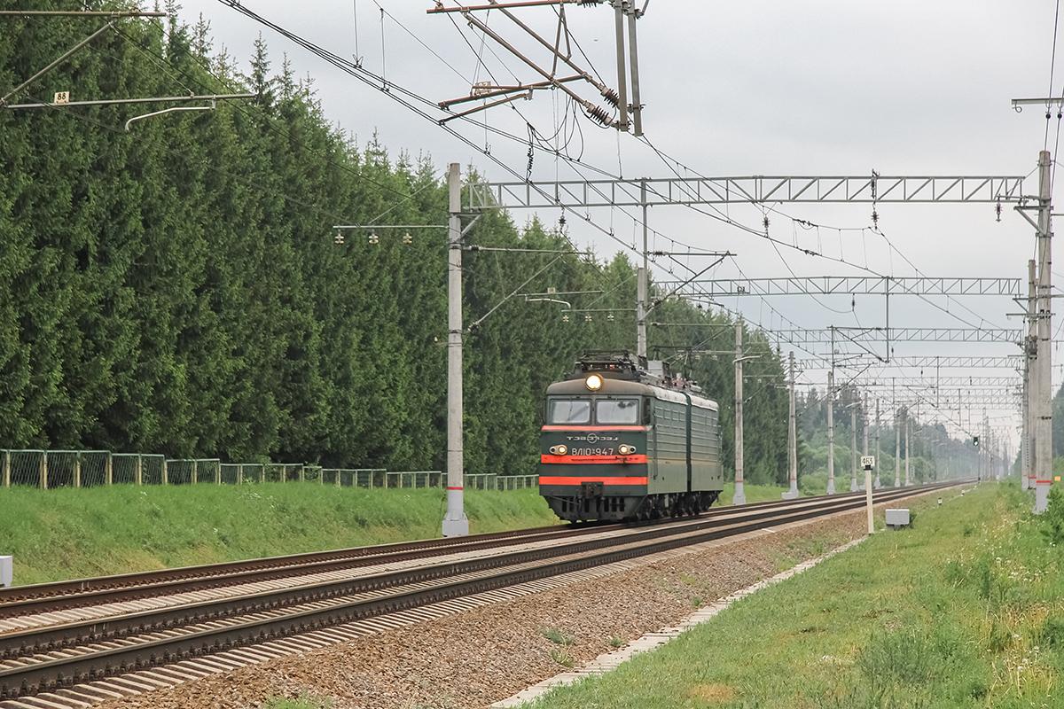 Электровоз ВЛ10У-947 на перегоне Дорошиха - Лихославль