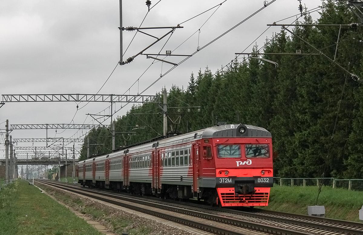 Сборный электропоезд ЭТ2М-8032 на перегоне Дорошиха - Лихославль
