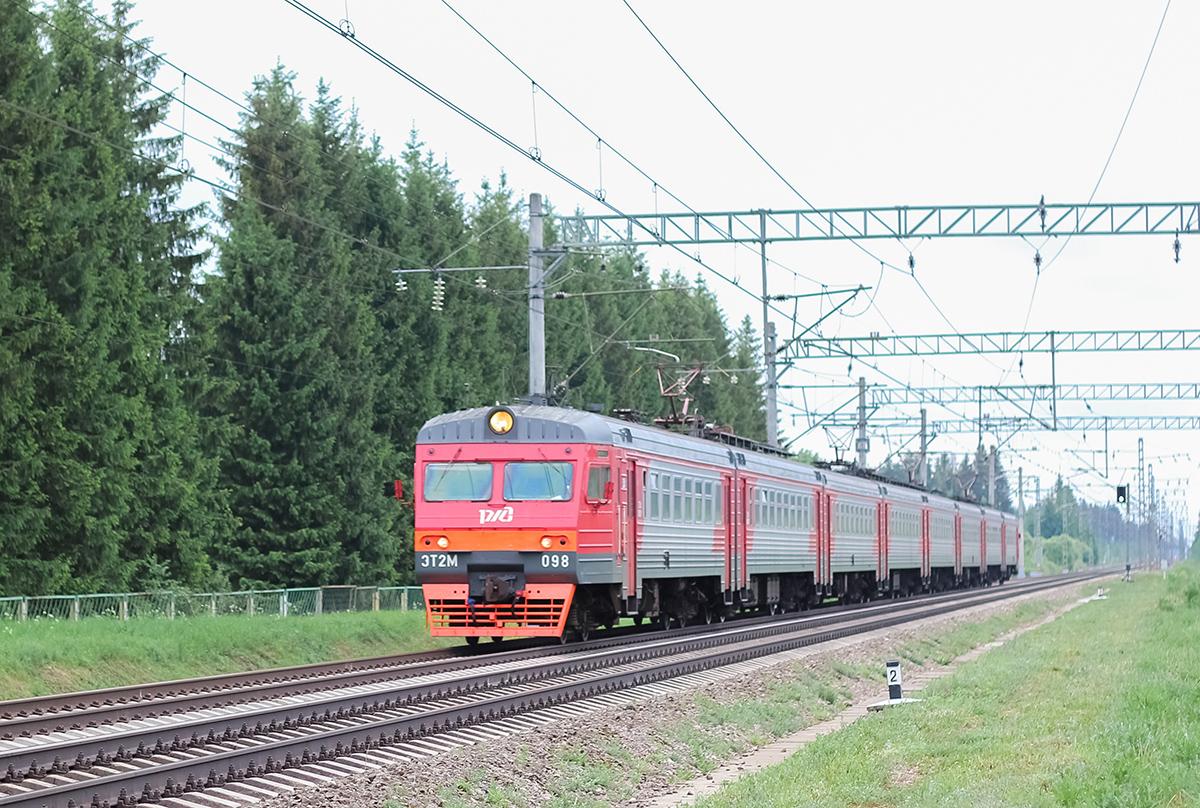 Электропоезд ЭТ2М-098 на перегоне Дорошиха - Лихославль