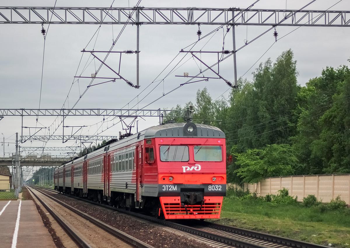 Сборный электропоезд ЭТ2М-8032 отправился от платформы Кулицкая, перегон Лихославль - Дорошиха