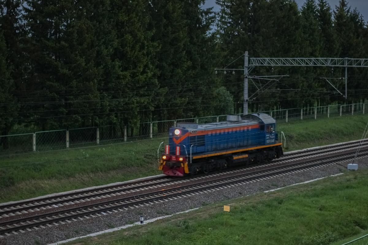 Тепловоз ТЭМ2 близ платформы Кулицкая, перегон Дорошиха - Лихославль