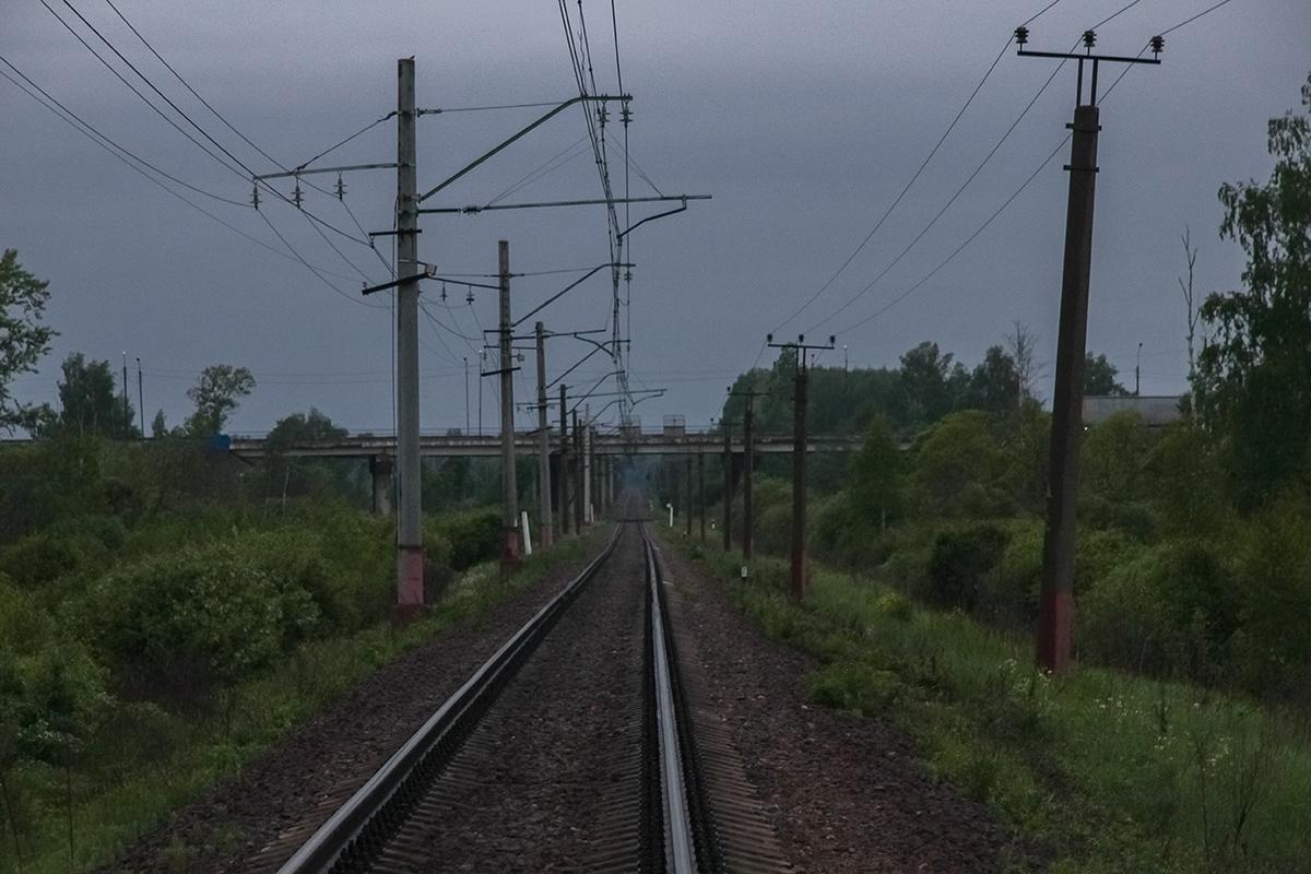 Вид от платформы Сокол (о.п. 30 км) в сторону Торжка