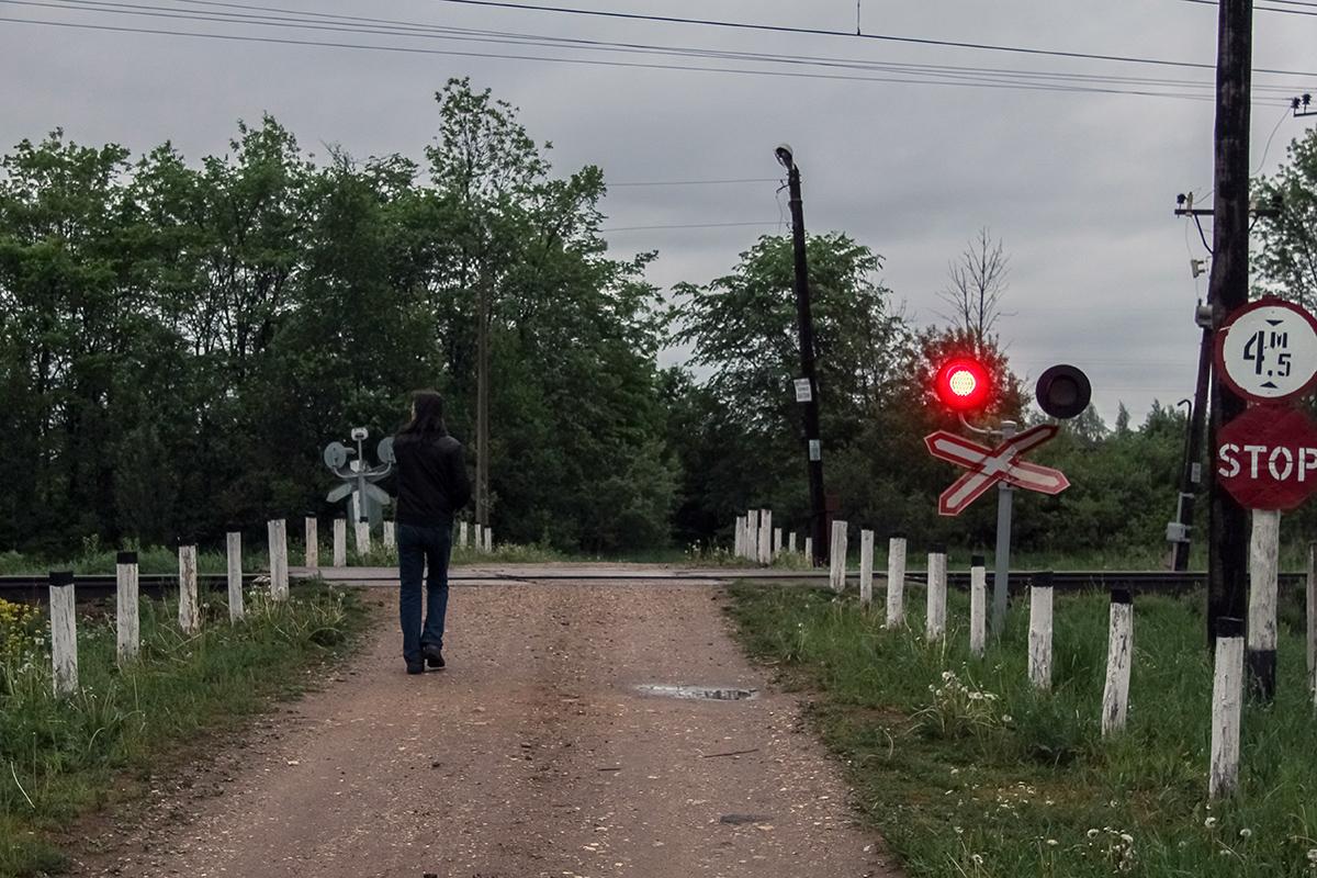 Нерегулируемый переезд у платформы Сокол (30 км), перегон Торжок - Терешкино
