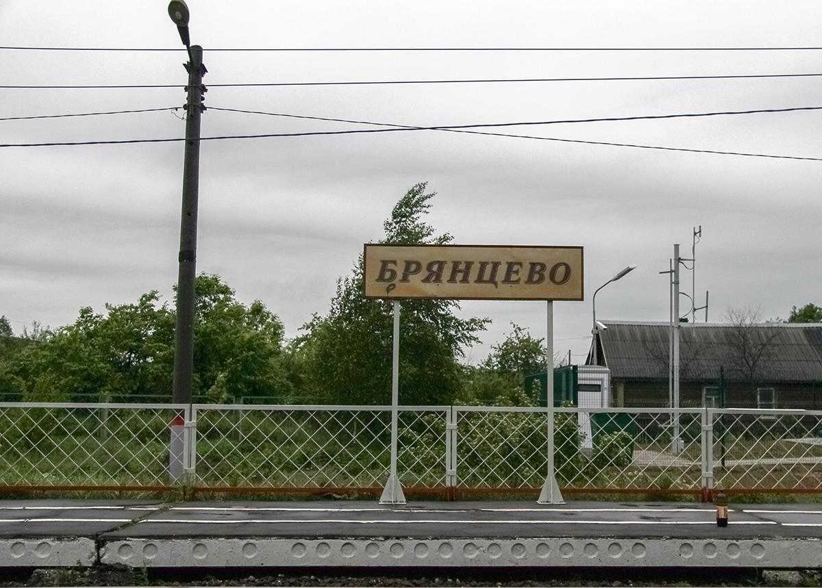 Табличка платформы Брянцево