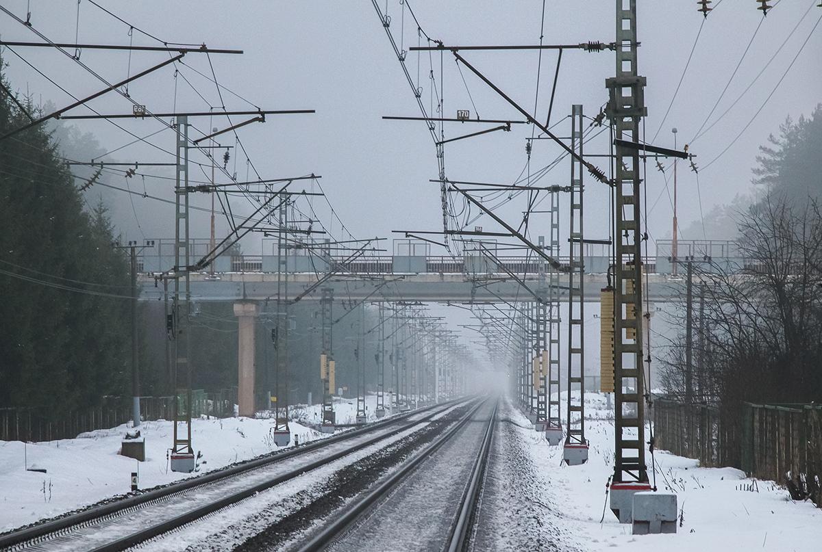 Вид от платформы Санаторий в сторону платформы Тверца