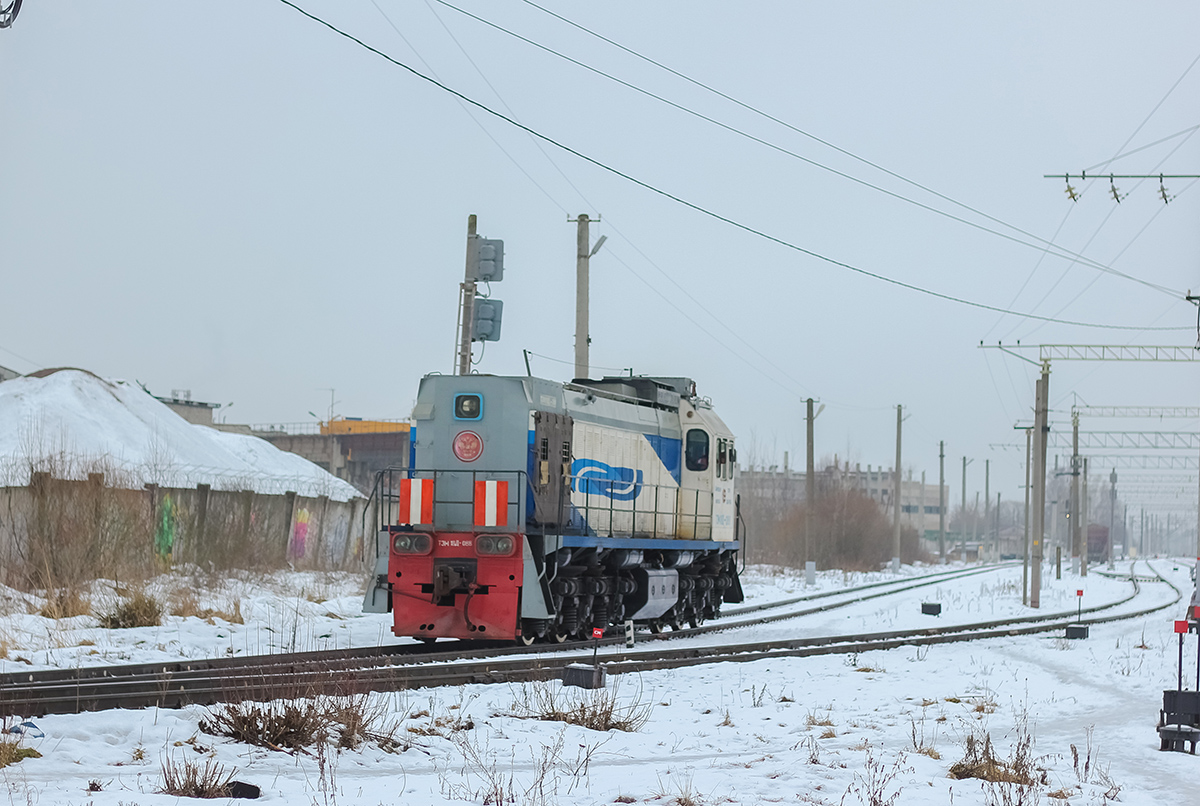 Тепловоз ТЭМ18Д-088 на станции Дорошиха