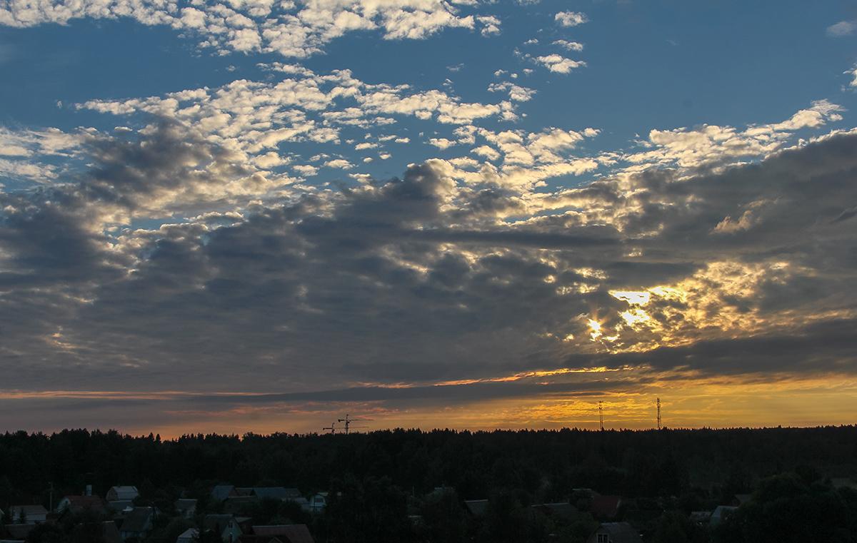 Рассвет на участке Сенеж - Головково