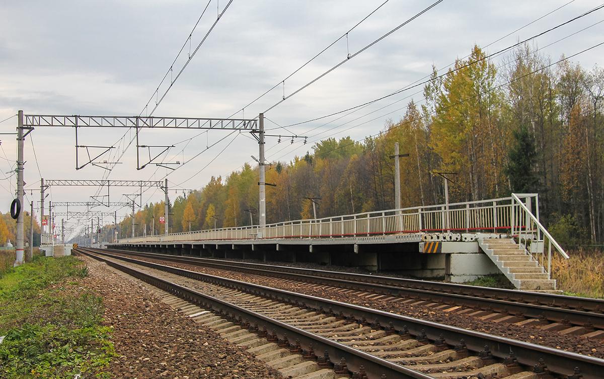 """Платформа Черничная, """"На Москву"""", вид со стороны Завидово"""