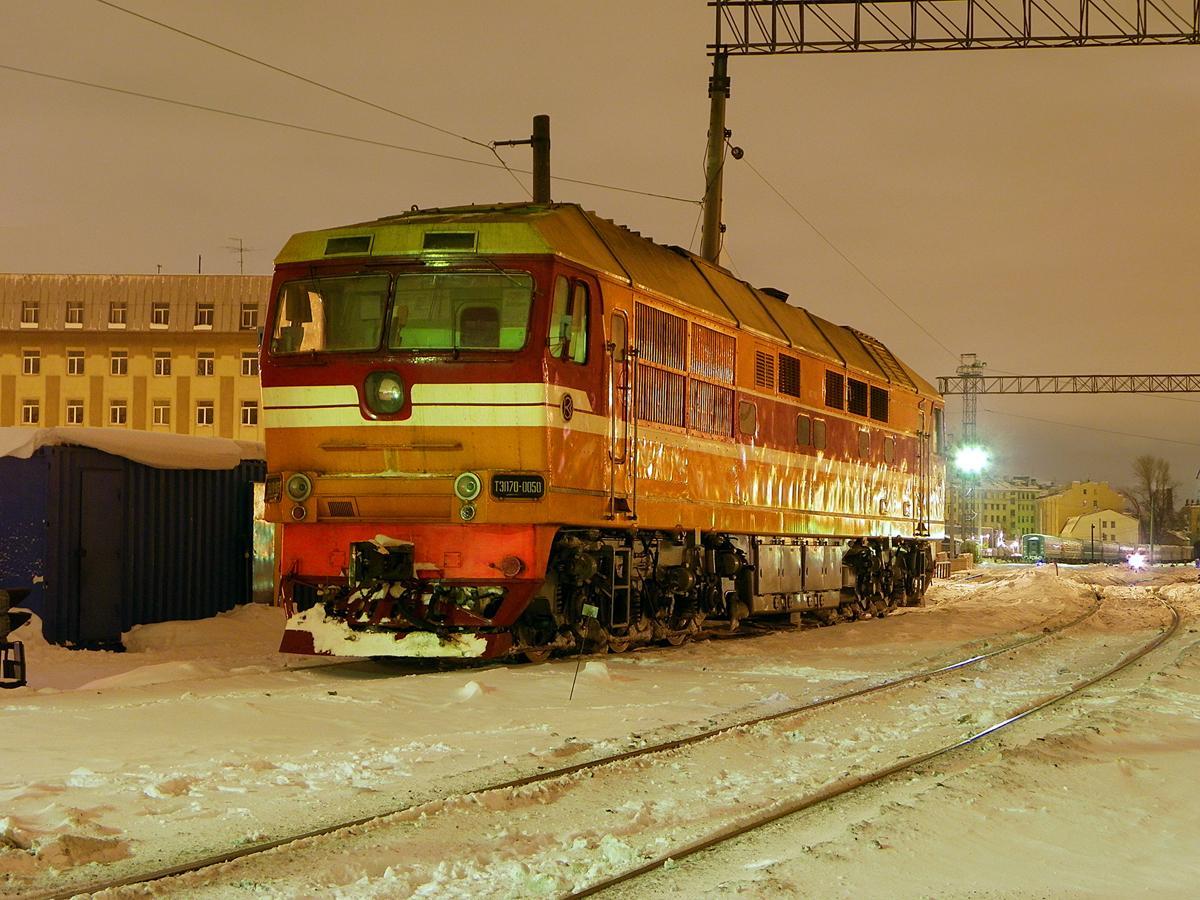 Тепловоз ТЭП70-0050, ст. Санкт-Петербург-Витебский