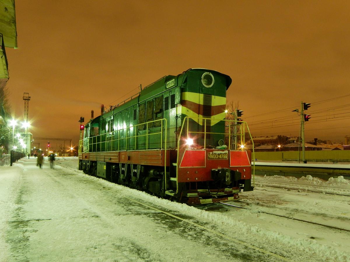 Тепловоз ЧМЭ3-4766, ст. Санкт-Петербург-Витебский