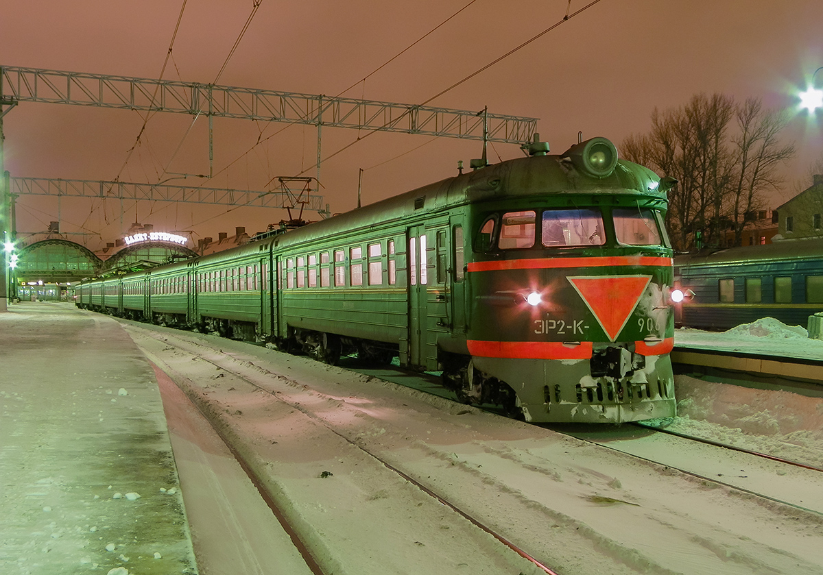 Электропоезд ЭР2К-906, ст. Санкт-Петербург-Витебский
