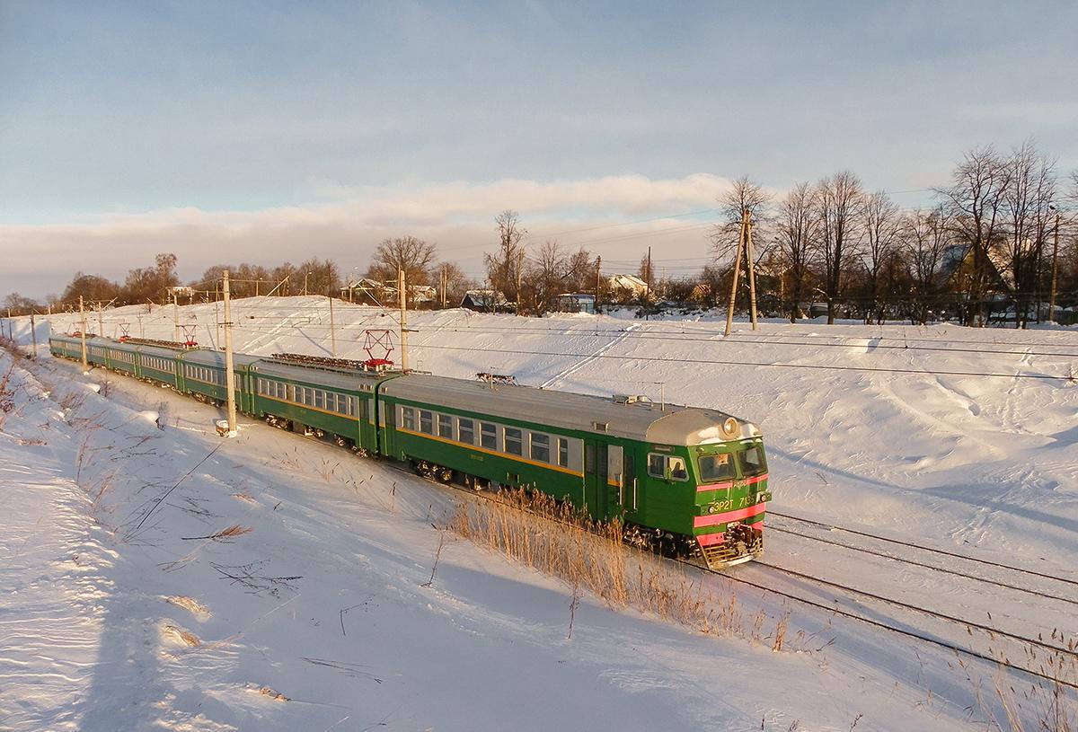 Электропоезд ЭР2Т-7135, перегон Ораниенбаум-I - Новый Петергоф