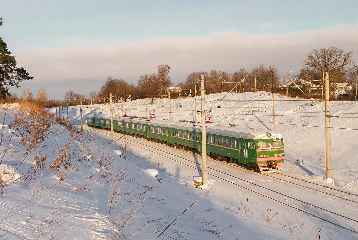 Электропоезд ЭР2Т-7190, перегон Новый Петергоф - Ораниенбаум-I