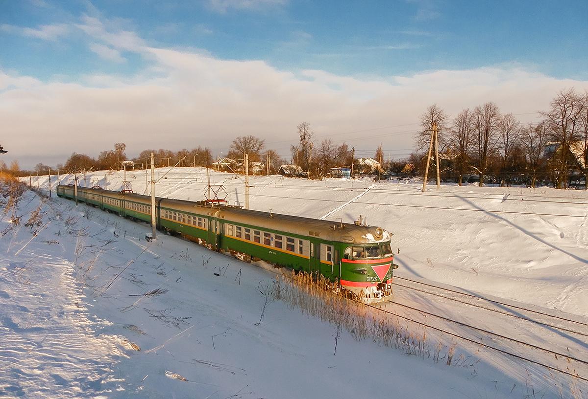 Электропоезд ЭР2К-910, перегон Ораниенбаум-I - Новый Петергоф