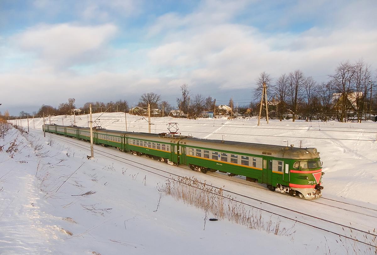Электропоезд ЭР2К-946, перегон Новый Петергоф - Ораниенбаум-I
