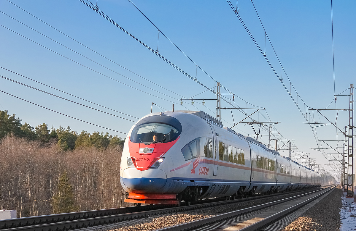 "Электропоезд ЭВС1-05 ""Сапсан"" на перегоне Лихославль - Дорошиха"