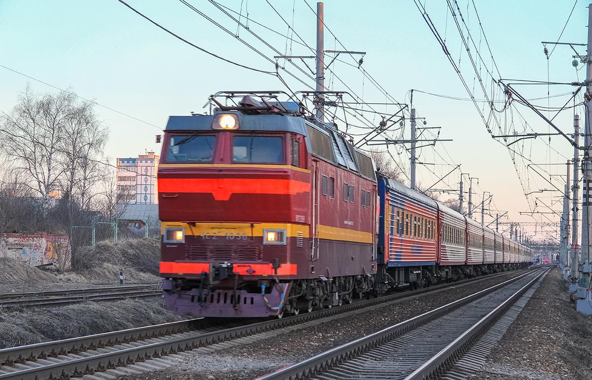 Электровоз ЧС2Т-1036 с поездом №53Ч «Гранд Экспресс» на станции Клин