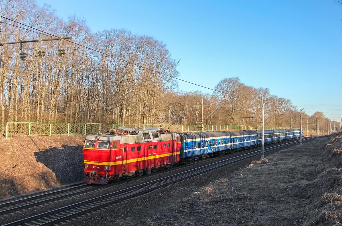 Электровоз ЧС2Т-994 с поездом Таллин — Москва, перегон Клин — Подсолнечная