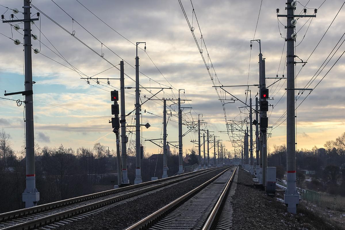 Вид на станцию Окуловка от Петербурга