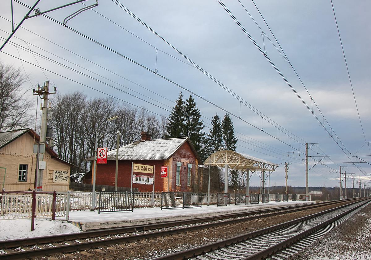 """Платформа 246 км. """"На Окуловку"""", перегон Окуловка - Боровёнка"""