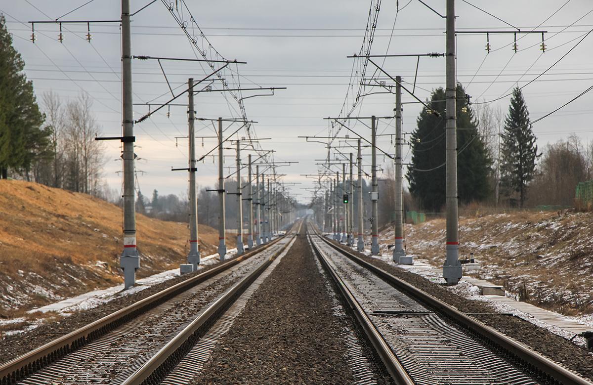 Вид от закрытой платформы 243 км. на Москву