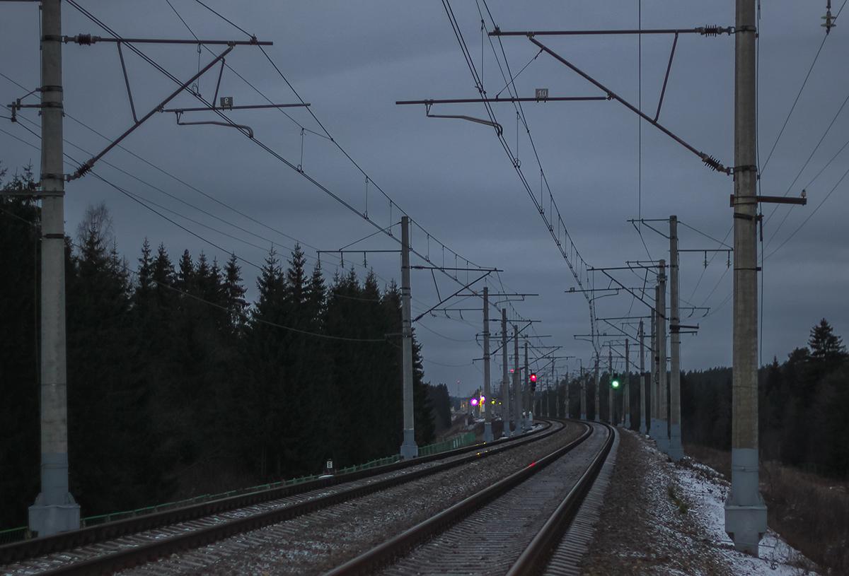 Чётные входные светофоры станции Боровёнка
