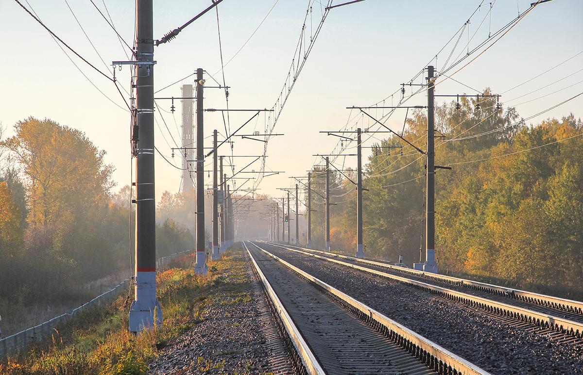 железная дорога, Решетниково, участок Ямуга - Клин