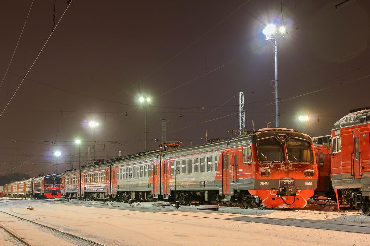 Электропоезд ЭД4М-0160 на станции Ярославль-Главный