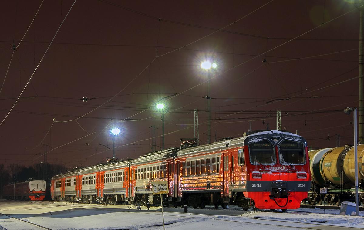 Электропоезд ЭД4М-0124, станция Ярославль-Главный