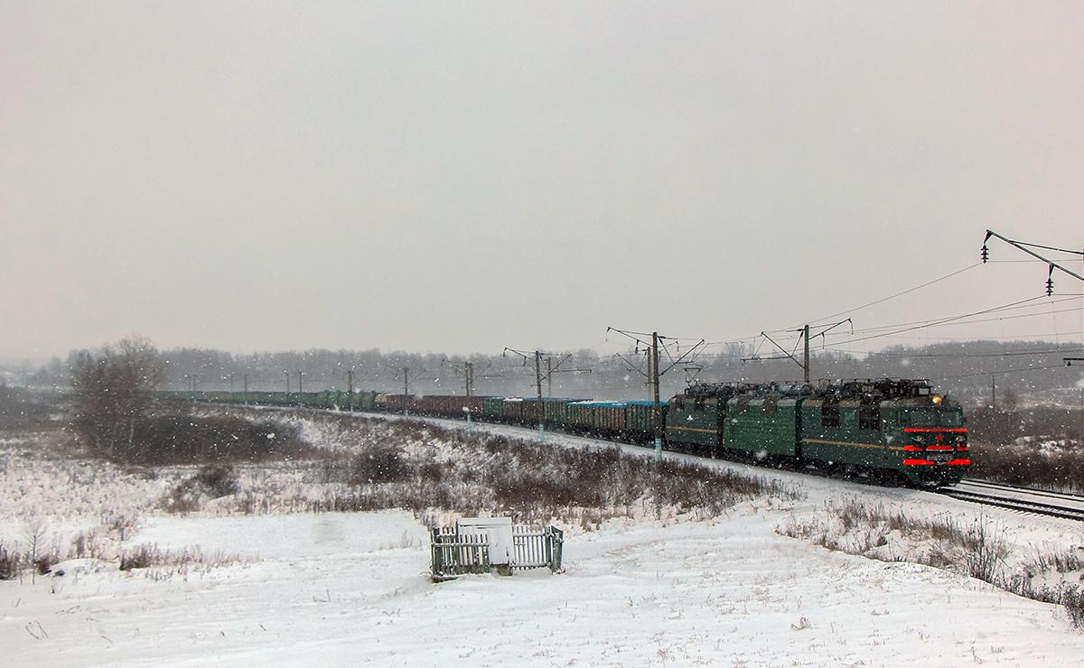Электровоз ВЛ80С-1531 с грузовым поездом на перегоне Вязьма - Семлёво