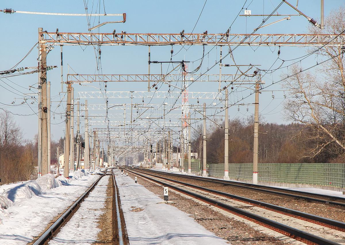 Станция Калашниково, вид со стороны Лихославля