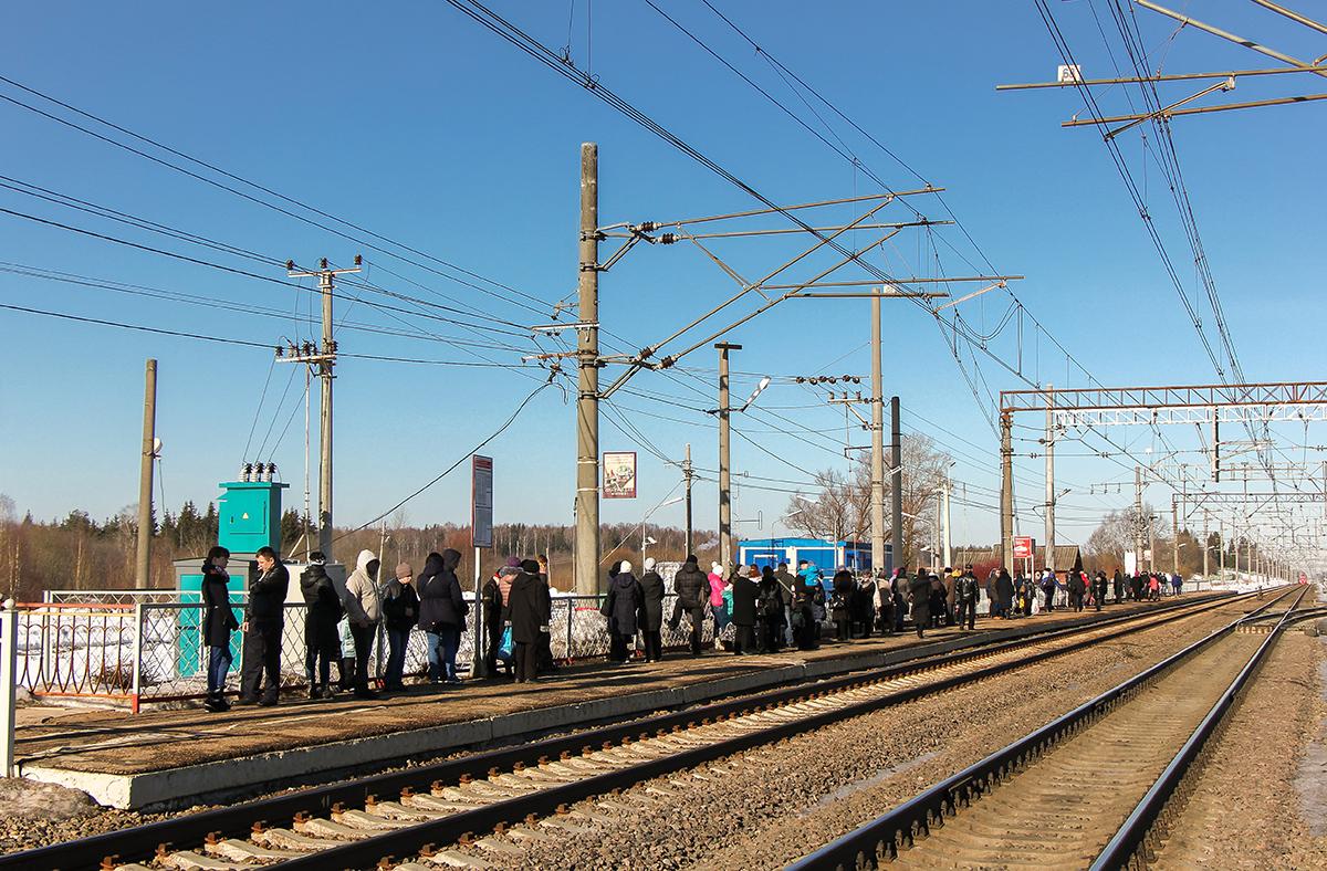 Пассажирская платформа «На Тверь» станции Калашниково