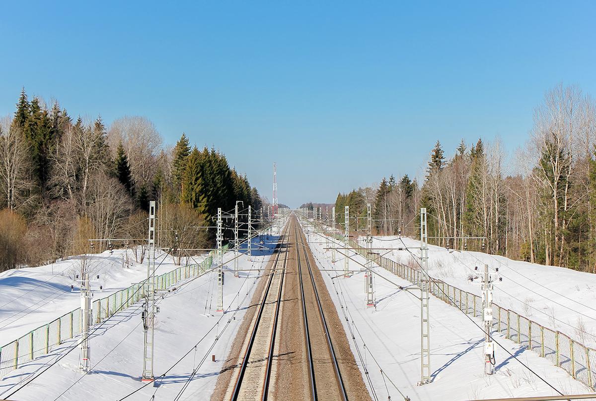 Вид на участок Локотцы - Барановка, перегона Лихославль - Калашниково