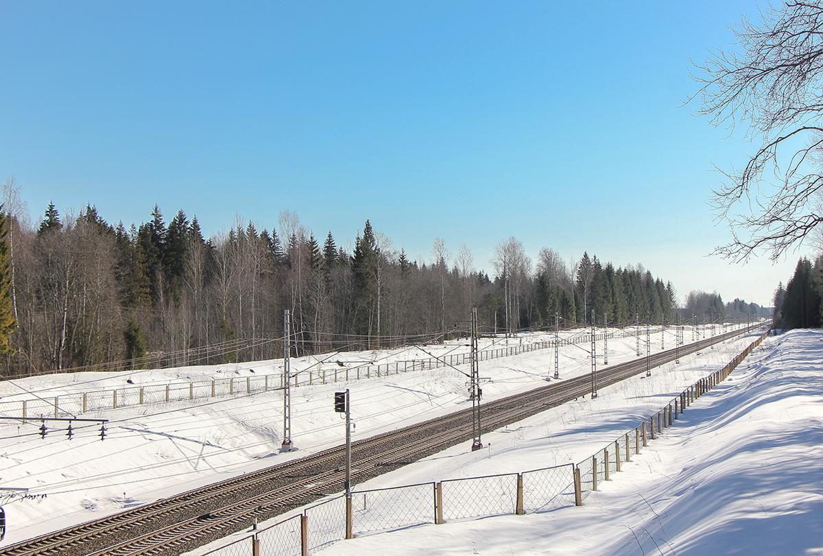 Вид на участок Барановка - Локотцы, перегона Калашниково - Лихославль