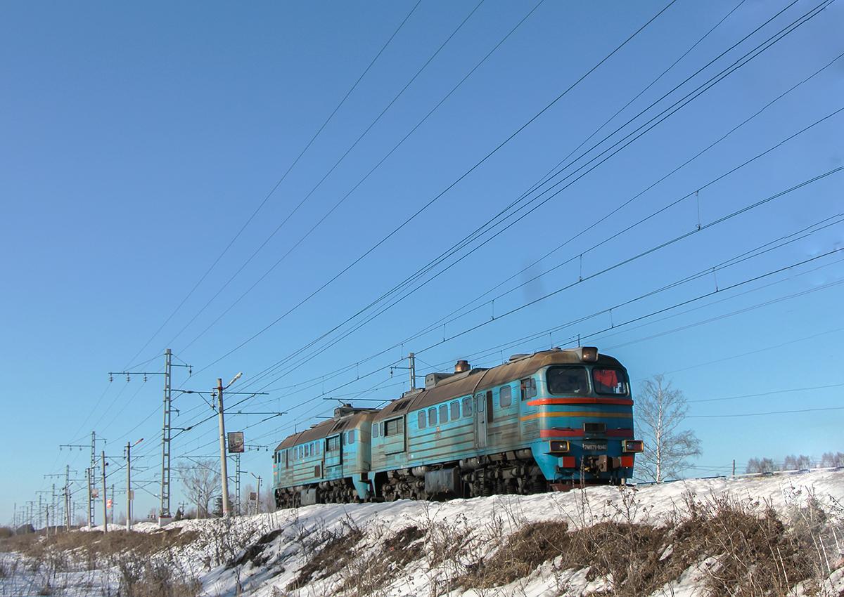 Тепловоз 2М62У-0304 проследует платформу Кулицкий Мох, перегон Лихославль - Дорошиха