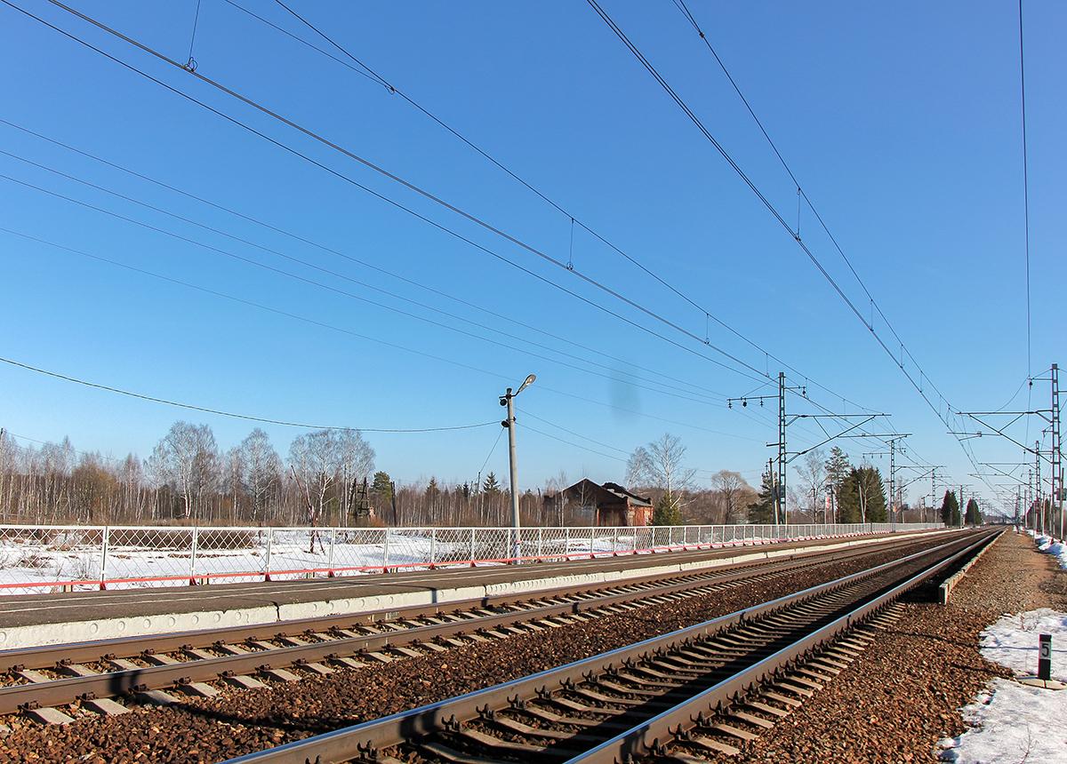 Платформа Кулицкий Мох, вид в сторону станции Дорошиха